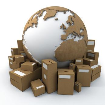 la terre entourée de cartons