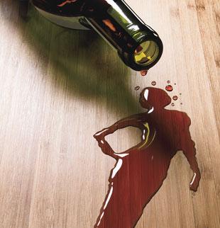 Tache femme vin