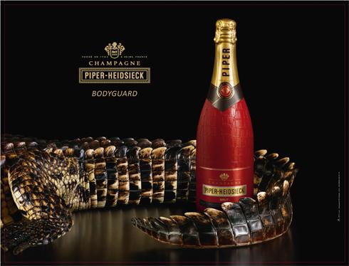 Quand piper heidsieck s habille de croco wine 39 s up - Combien de bouteille de champagne par personne ...