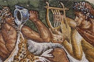 Fresque antique vins