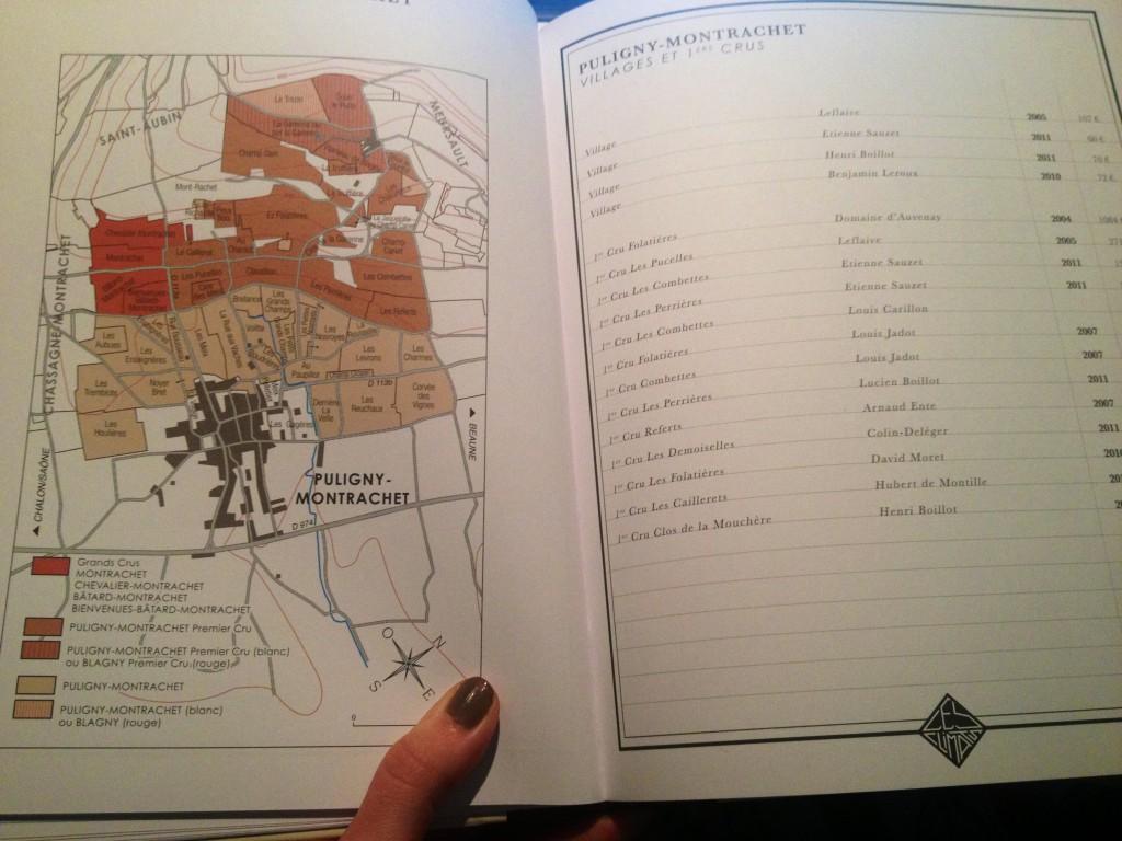 Un livre illustré : la carte des vins